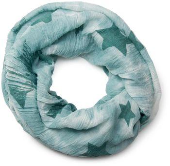 styleBREAKER crinkled vintage design star pattern loop tube scarf, unisex 01016095 – Bild 15