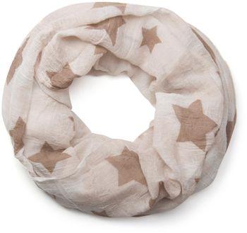 styleBREAKER crinkled vintage design star pattern loop tube scarf, unisex 01016095 – Bild 1