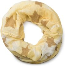 styleBREAKER crinkled vintage design star pattern loop tube scarf, unisex 01016095 – Bild 8