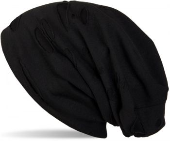 styleBREAKER beanie hat with holes in destroyed vintage used Look, unisex 04024036 – Bild 3
