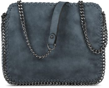 styleBREAKER's rock-inspired shoulder bag made from white imitation leather, with an integrated chain, 02012020 – Bild 3