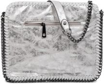 styleBREAKER's rock-inspired shoulder bag made from white imitation leather, with an integrated chain, 02012020 – Bild 6