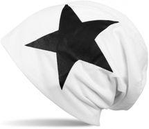 styleBREAKER klassische Beanie Mütze mit Stern Print, Unisex 04024038 – Bild 12