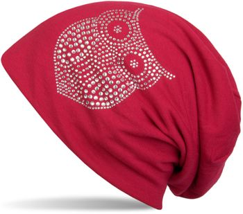 styleBREAKER classic beanie hat with owl rhinestone application, women 04024039 – Bild 10