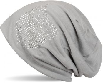 styleBREAKER classic beanie hat with owl rhinestone application, women 04024039 – Bild 12