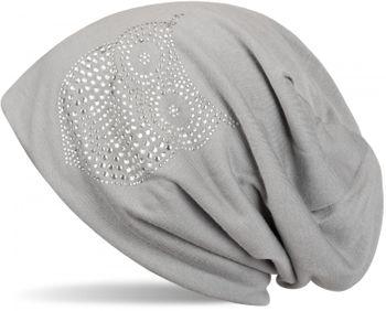 styleBREAKER klassische Beanie Mütze mit Strass Eulen Applikation, Damen 04024039 – Bild 12