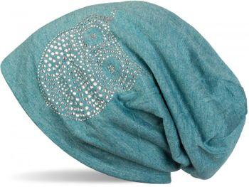 styleBREAKER klassische Beanie Mütze mit Strass Eulen Applikation, Damen 04024039 – Bild 11