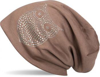 styleBREAKER classic beanie hat with owl rhinestone application, women 04024039 – Bild 15