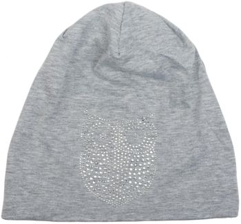 styleBREAKER classic beanie hat with owl rhinestone application, women 04024039 – Bild 22