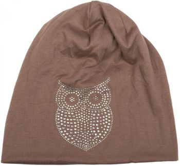 styleBREAKER classic beanie hat with owl rhinestone application, women 04024039 – Bild 24