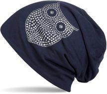 styleBREAKER klassische Beanie Mütze mit Strass Eulen Applikation, Damen 04024039 – Bild 8