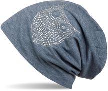 styleBREAKER klassische Beanie Mütze mit Strass Eulen Applikation, Damen 04024039 – Bild 4