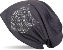 styleBREAKER classic beanie hat with owl rhinestone application, women 04024039 – Bild 9