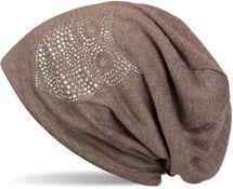 styleBREAKER klassische Beanie Mütze mit Strass Eulen Applikation, Damen 04024039 – Bild 13