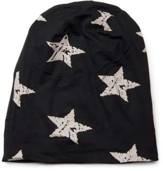 styleBREAKER beanie hat with stars print in destroyed vintage look, Unisex 04024041 – Bild 8
