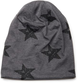 styleBREAKER beanie hat with stars print in destroyed vintage look, Unisex 04024041 – Bild 9