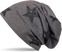 styleBREAKER beanie hat with stars print in destroyed vintage look, Unisex 04024041 – Bild 2