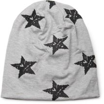 styleBREAKER beanie hat with stars print in destroyed vintage look, Unisex 04024041 – Bild 11