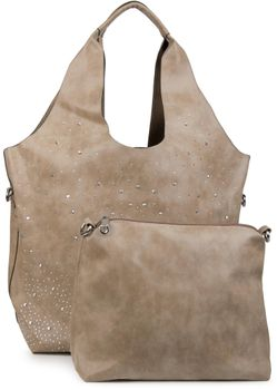 styleBREAKER's practical tote bag set with rhinestone detailing in a starry sky design, 02012031 – Bild 8