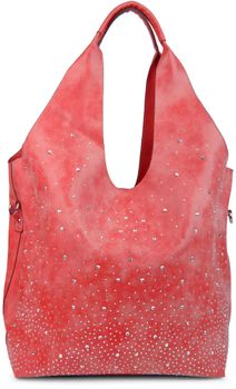 styleBREAKER's practical tote bag set with rhinestone detailing in a starry sky design, 02012031 – Bild 7