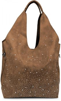 styleBREAKER's practical tote bag set with rhinestone detailing in a starry sky design, 02012031 – Bild 17