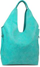 styleBREAKER's practical tote bag set with rhinestone detailing in a starry sky design, 02012031 – Bild 1