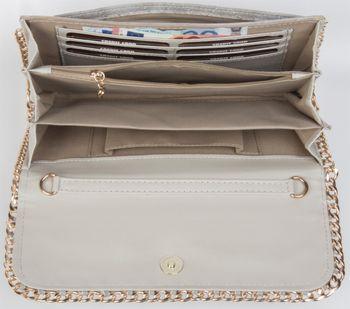 styleBREAKER weiche Clutch, Abendtasche mit eingearbeiteter Kette in edlem Design, Damen 02012032 – Bild 14