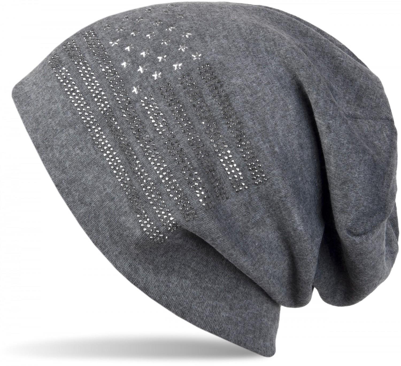 styleBREAKER Noble Chapeau de Bonnet aux Etats-Unis de Conception de Drapeau avec des Rivets en Strass Unisexe 04024042