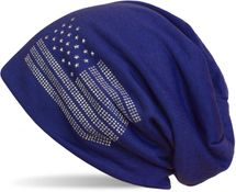 styleBREAKER edle Beanie Mütze im USA Flaggen Design mit Strassnieten, Unisex 04024042 – Bild 18