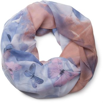 styleBREAKER butterfly pattern loop tube scarf, silky and light, women 01016097 – Bild 1