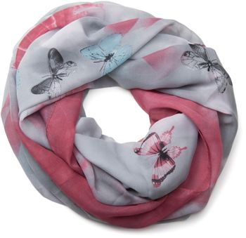 styleBREAKER butterfly pattern loop tube scarf, silky and light, women 01016097 – Bild 11