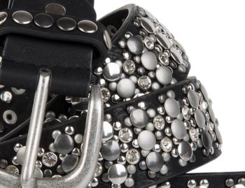 styleBREAKER elegant studded belt with large and small studs and rhinestones, 03010052 – Bild 4