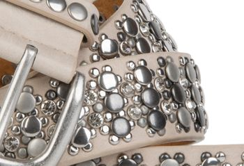styleBREAKER elegant studded belt with large and small studs and rhinestones, 03010052 – Bild 8