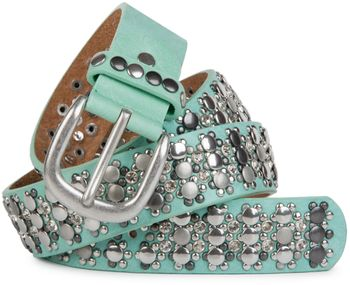 styleBREAKER elegant studded belt with large and small studs and rhinestones, 03010052 – Bild 9