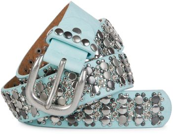 styleBREAKER elegant studded belt with large and small studs and rhinestones, 03010052 – Bild 11