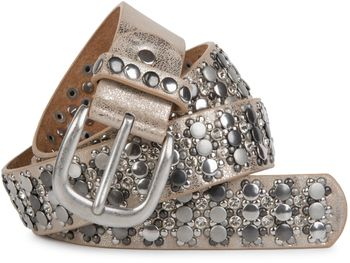 styleBREAKER elegant studded belt with large and small studs and rhinestones, 03010052 – Bild 13