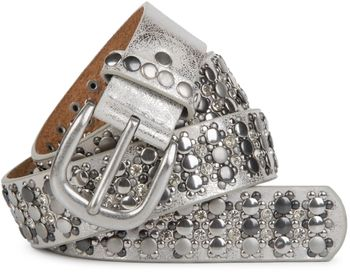 styleBREAKER elegant studded belt with large and small studs and rhinestones, 03010052 – Bild 15