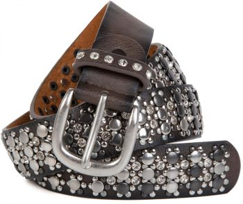 styleBREAKER elegant studded belt with large and small studs and rhinestones, 03010052 – Bild 24