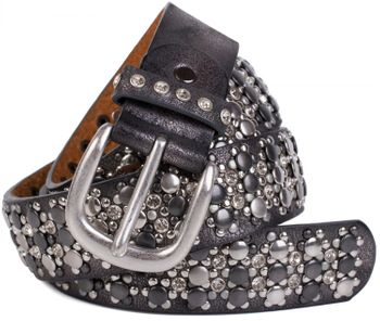 styleBREAKER elegant studded belt with large and small studs and rhinestones, 03010052 – Bild 27