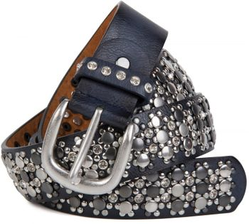 styleBREAKER elegant studded belt with large and small studs and rhinestones, 03010052 – Bild 33