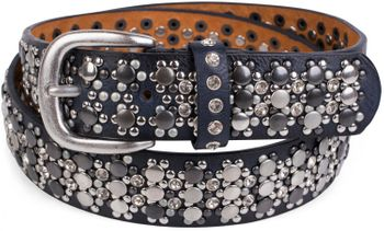 styleBREAKER elegant studded belt with large and small studs and rhinestones, 03010052 – Bild 35