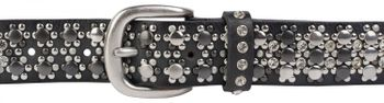 styleBREAKER elegant studded belt with large and small studs and rhinestones, 03010052 – Bild 38