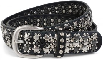 styleBREAKER elegant studded belt with large and small studs and rhinestones, 03010052 – Bild 40