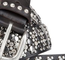 styleBREAKER elegant studded belt with large and small studs and rhinestones, 03010052 – Bild 2