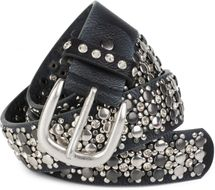 styleBREAKER elegant studded belt with large and small studs and rhinestones, 03010052 – Bild 45