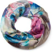 styleBREAKER silky loop tube scarf in picturesque houses Print, light, women 01016098 – Bild 11