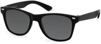 styleBREAKER Kinder Nerd Sonnenbrille mit Kunststoff Rahmen und Polycarbonat Gläsern, klassiches Retro Design 09020056 – Bild 3
