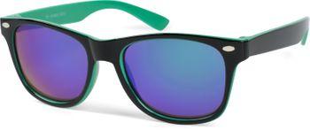 styleBREAKER Kinder Nerd Sonnenbrille mit Kunststoff Rahmen und Polycarbonat Gläsern, klassiches Retro Design 09020056 – Bild 27