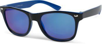 styleBREAKER Kinder Nerd Sonnenbrille mit Kunststoff Rahmen und Polycarbonat Gläsern, klassiches Retro Design 09020056 – Bild 17