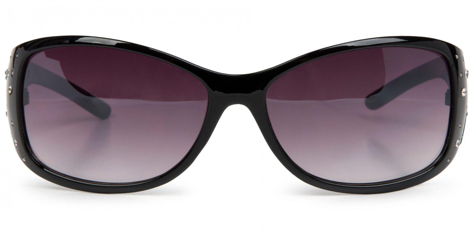 19d47ec303 styleBREAKER gafas de sol con piedras de estrás y degradadas, forma ...